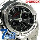GST-W110D-1AER G-SHOCK Gスチール 電波ソーラー レイヤーガード構造 カシオ Gショック メンズ 腕時計 ブラック