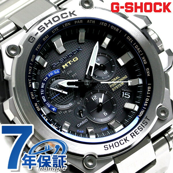 G-SHOCK GPSハイブリッド 電波ソーラー メンズ 腕時計 MTG-G1000D-1A2ER カシオ Gショック ブラック【対応】 [新品][7年保証][送料無料]
