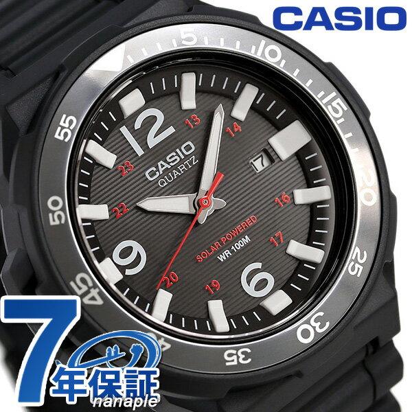 カシオ チープカシオ ソーラー メンズ 腕時計 MRW-S310H-1BVDF CASIO オールブラック 時計