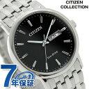 シチズン ソーラー デイデイト メンズ 腕時計 BM9010-59E CITIZEN ブラック
