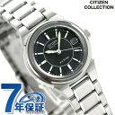 シチズン ソーラー ペアウォッチ レディース 腕時計 FRA36-2201 CITIZEN ブラック
