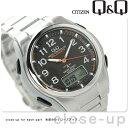 シチズン Q&Q 電波ソーラー コンビネーション ソーラーメイト MD02-205 CITIZEN メンズ 腕時計 ブラック