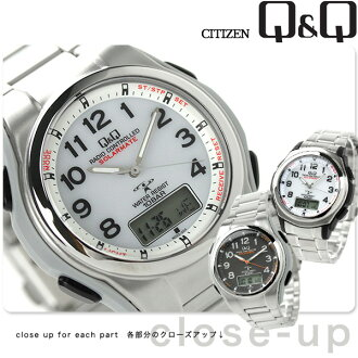 Citizen Q & Q radio solar combination solar mate MD02 CITIZEN mens watch choice model