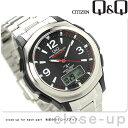 シチズン Q&Q 電波ソーラー コンビネーション ソーラーメイト MD04-205 CITIZEN メンズ 腕時計 ブラック