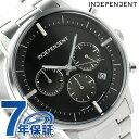 インディペンデント タイムレスライン クロノグラフ メンズ BR1-811-51 INDEPENDENT 腕時計 ブラック 時計【あす楽対応】