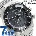 シチズン エコドライブ Bluetooth スマートウォッチ チタン BZ1041-57E CITIZEN 腕時計 ブラック 時計