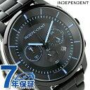 インディペンデント タイムレスライン クロノグラフ ソーラー KF5-144-51 INDEPENDENT 腕時計 オールブラック×ブルー