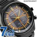 インディペンデント 20周年 電波ソーラー メンズ 腕時計 KL8-449-51 INDEPENDENT ブラウン×ブラック
