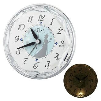 時鐘迪士尼安娜和雪女王艾爾莎時鐘 4SE546MA04 迪士尼