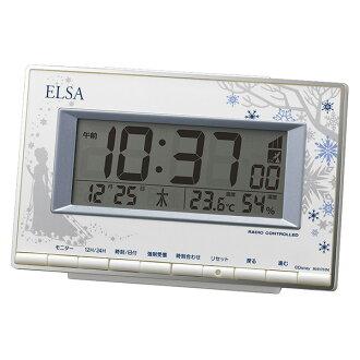時鐘迪士尼安娜和雪女王艾爾莎時鐘 8RZ133MC04 迪士尼