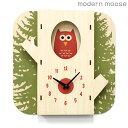 クロック モダンムース 掛時計 フクロウ バルトバーチ木材 modern moose PC010 時計