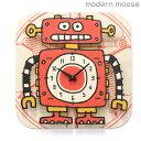 クロック モダンムース 掛時計 ロボット バルトバーチ木材 modern moose PC012 時計