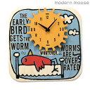 クロック モダンムース 掛時計 鳥 バルトバーチ木材 modern moose PC033 時計