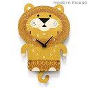 クロック モダンムース 掛時計 ライオン 振り子 バルトバーチ木材 modern moose PCPEN017 時計