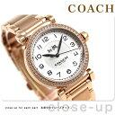 コーチ マディソン クオーツ レディース 腕時計 14502398 COACH ホワイト×ピンクゴー