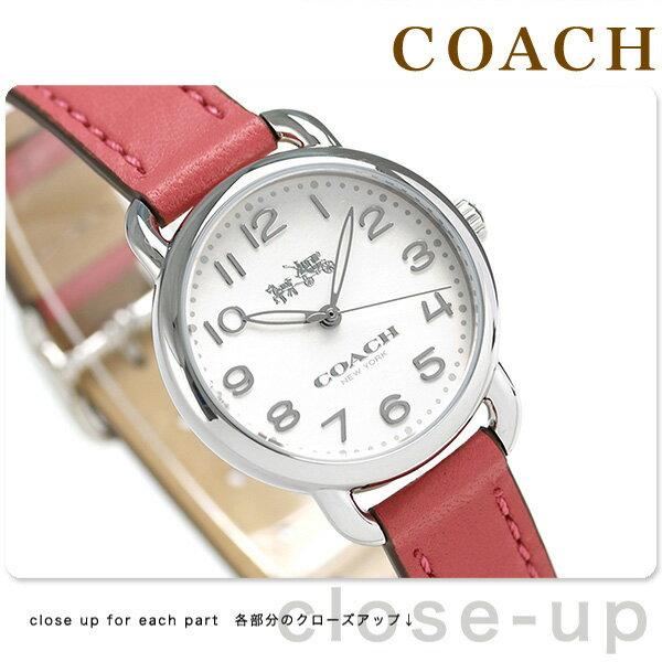コーチ デランシー 28mm クオーツ レディース 腕時計 14502708 COACH シルバー×ピンク【対応】 [新品][1年保証][送料無料]ひくい?