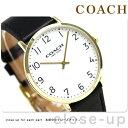 コーチ スリム イーストン 40mm クオーツ メンズ 腕時計 14602125 COACH ホワイト
