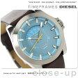 ディーゼル アージェス メンズ 腕時計 DZ1661 DIESEL クオーツ ブルー×ダークブラウン レザーベルト【あす楽対応】