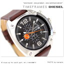 DZ4204 ディーゼル メンズ 腕時計 クロノグラフ レザーベルト ブラック DIESEL