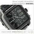 DZ4300 ディーゼル メンズ 腕時計 ダブル ダウン スクエア クロノグラフ オールブラック DIESEL