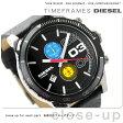 DZ4331 ディーゼル ダブルダウン クロノグラフ メンズ 腕時計 DIESEL クオーツ ブラック レザーベルト