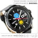 DZ4331 ディーゼル ダブルダウン クロノグラフ メンズ 腕時計 DIESEL クオーツ ブラック レザーベルト【あす楽対応】