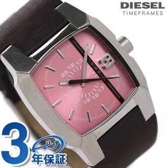 Diesel watch DIESEL ladies watch brown leather x pink DZ5100