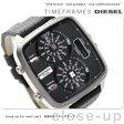 ディーゼル ハル クオーツ メンズ 腕時計 DZ7302 DIESEL ブラック レザーベルト