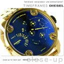 ディーゼル リトル ダディ デュアルタイム メンズ DZ7347 DIESEL 腕時計 ブラック×ゴールド【あす楽対応】