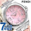 フェンディ ハイスピード 36mm 革ベルト レディース 腕時計 F414377 FENDI ピンクシェル 時計