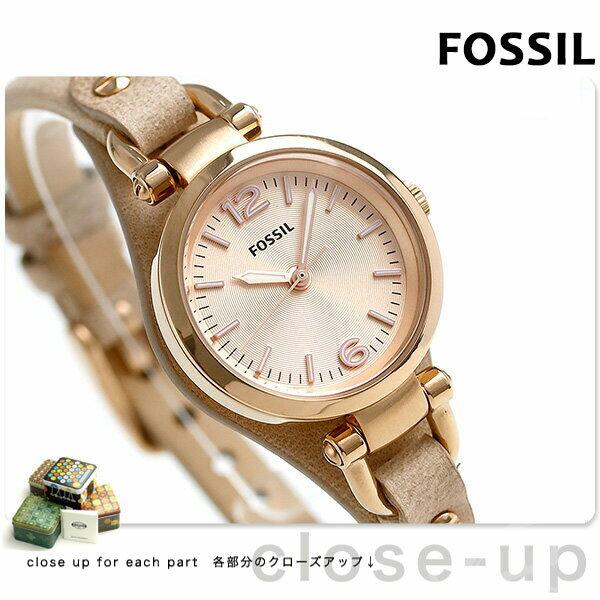 フォッシル ジョージア ミニ クオーツ レディース 腕時計 ES3262 FOSSIL ピンクゴールド【対応】 [新品][1年保証][送料無料]