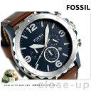 フォッシル ネイト クオーツ メンズ 腕時計 JR1504 ネイビー×ブラウン【あす楽対応】