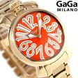 ガガミラノ マヌアーレ 35MM スイス製 レディース 腕時計 6021.6 GaGa MILANO オレンジ×ピンクゴールド