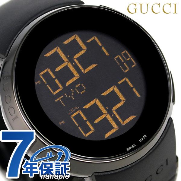 グッチ アイグッチ XL クオーツ メンズ 腕時計 YA114228 GUCCI オールブラック【あす楽対応】