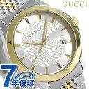 グッチ 時計 メンズ GUCCI 腕時計 Gタイムレス 40mm シルバー×ゴールド YA12640...