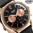 【エントリーでさらにポイント 4倍!21日20時〜26日1時59分まで】 ヘンリーロンドン HENRY LONDON クロノグラフ 41mm メンズ HL41-CS-0042 腕時計 リッチモンド 時計