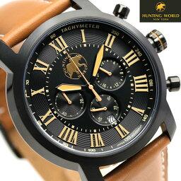 ハンティングワールド ランドスケープ 43mm メンズ HW930BK HUNTING WORLD 腕時計 ブラック