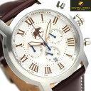 ハンティングワールド ランドスケープ 43mm メンズ HW930BR HUNTING WORLD 腕時計 ホワイト 時計