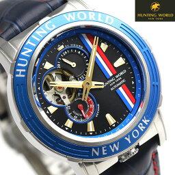 ハンティングワールド アディショナルタイム 41mm 自動巻き HW993BL HUNTING WORLD 腕時計