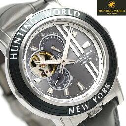 ハンティングワールド アディショナルタイム 41mm 自動巻き HW993GY HUNTING WORLD 腕時計