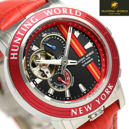 ハンティングワールド アディショナルタイム 41mm 自動巻き HW993RD HUNTING WORLD 腕時計