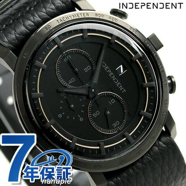 インディペンデント 5351プールオム 限定モデル クロノグラフ BA5-945-50 腕時計 オールブラック 時計【あす楽対応】