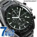 インディペンデント メンズ 腕時計 スポーティ クロノグラフ BA7-140-51 INDEPENDENT オールブラック 時計【あす楽対応】