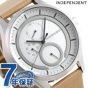 インディペンデント ソーラー 革ベルト メンズ 腕時計 KB1-317-10 INDEPENDENT ホワイト×ベージュ 時計