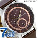 インディペンデント ソーラー 革ベルト メンズ 腕時計 KB1-317-90 INDEPENDENT ブラウン 時計