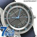 インディペンデント タイムレスライン 電波ソーラー KL8-619-54 腕時計 ブラック×ブルー 時計【あす楽対応】