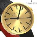 ニューゲート NEWGATE 40mm バーインデックス 革ベルト WWMDRMRB032LK メンズ レディース 腕時計 ゴールド×ブラック 時計