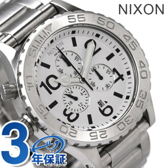 42-20 nixon Nixon watch THE CHRONO chronograph white A037100