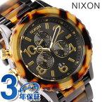 nixon ニクソン 腕時計 THE 42-20 CHRONO クロノグラフ オールブラック/トートイズ A037679【多針アナログ表示】 【あす楽対応】