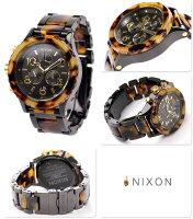 nixonニクソン腕時計THE42-20CHRONOクロノグラフオールブラック/トートイズA037679